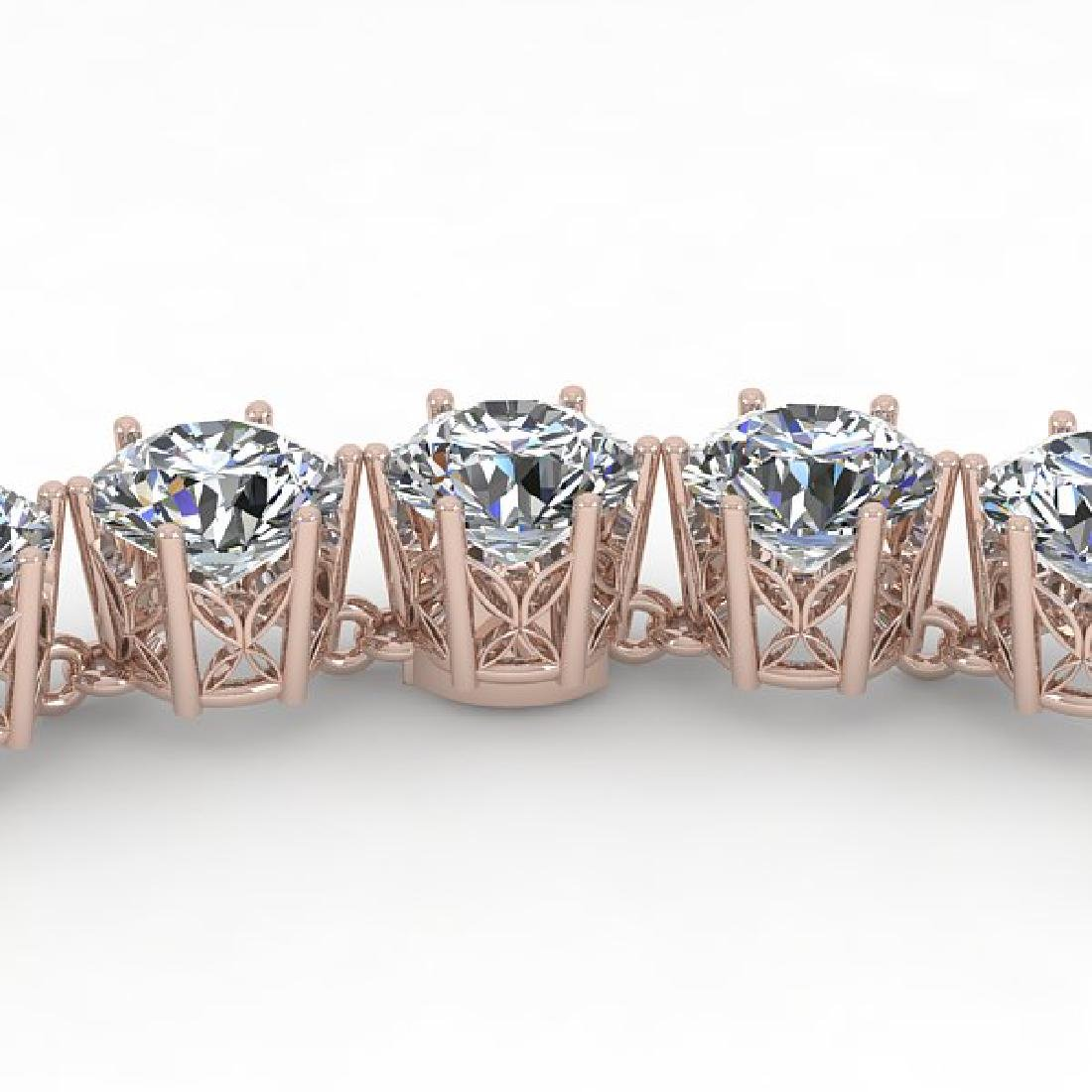 29 CTW SI Certified Diamond Necklace 18K Rose Gold