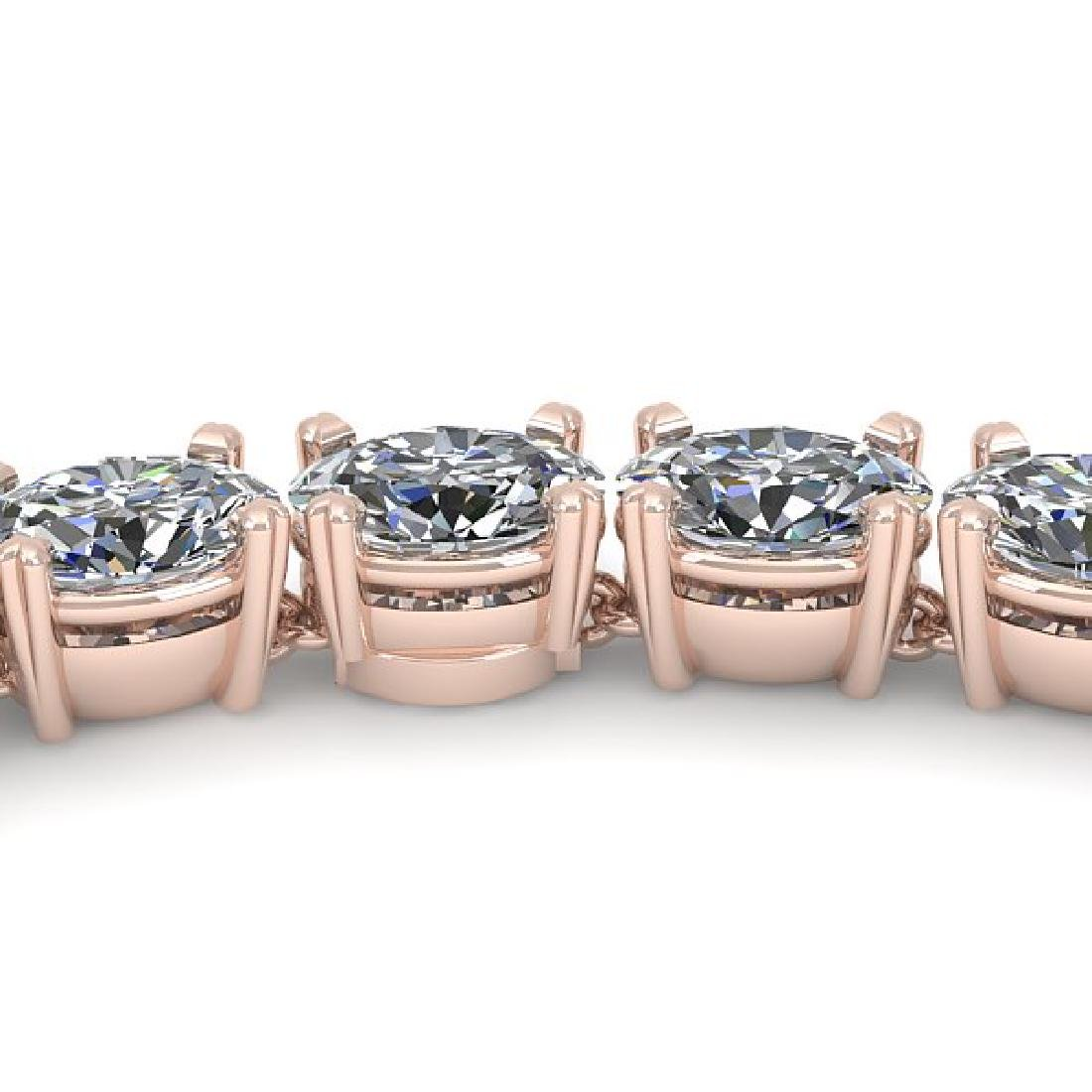 26 CTW Oval Cut Certified SI Diamond Necklace 18K Rose