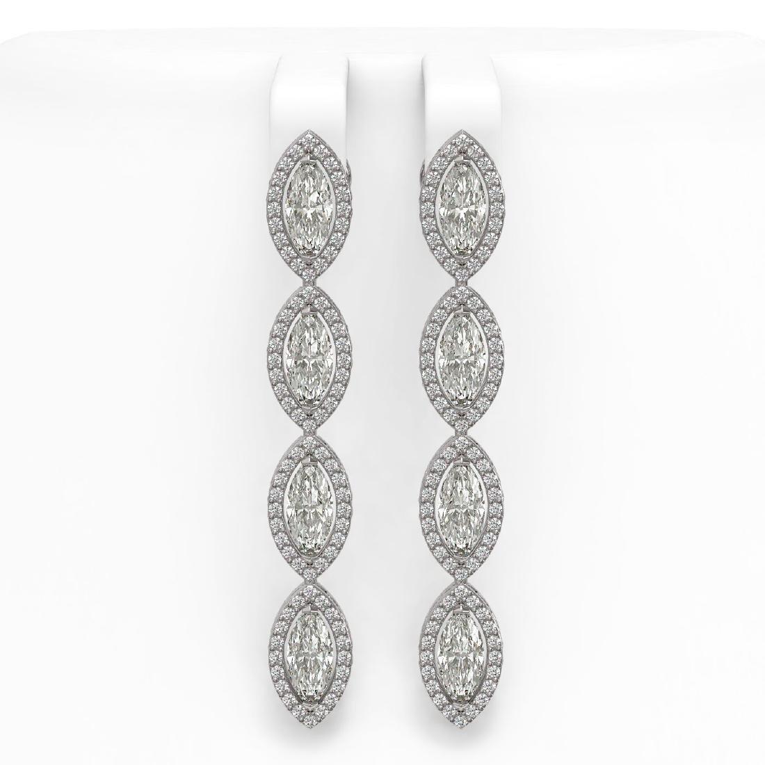 6.08 CTW Marquise Diamond Designer Earrings 18K White