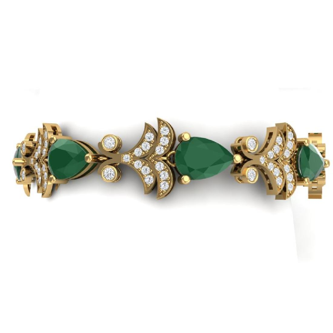 24.8 CTW Royalty Emerald & VS Diamond Bracelet 18K