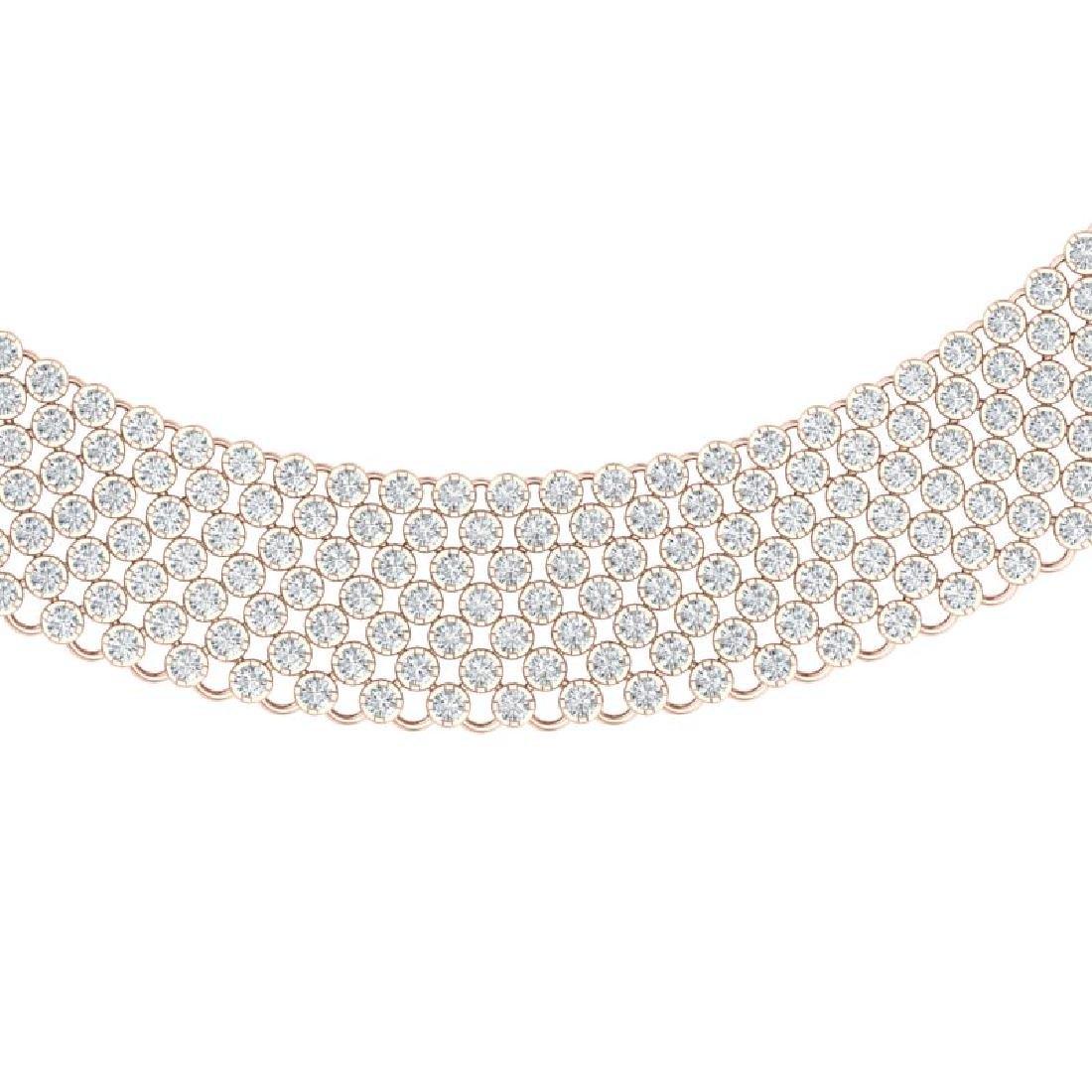 35 CTW Certified VS/SI Diamond Necklace 18K Rose Gold
