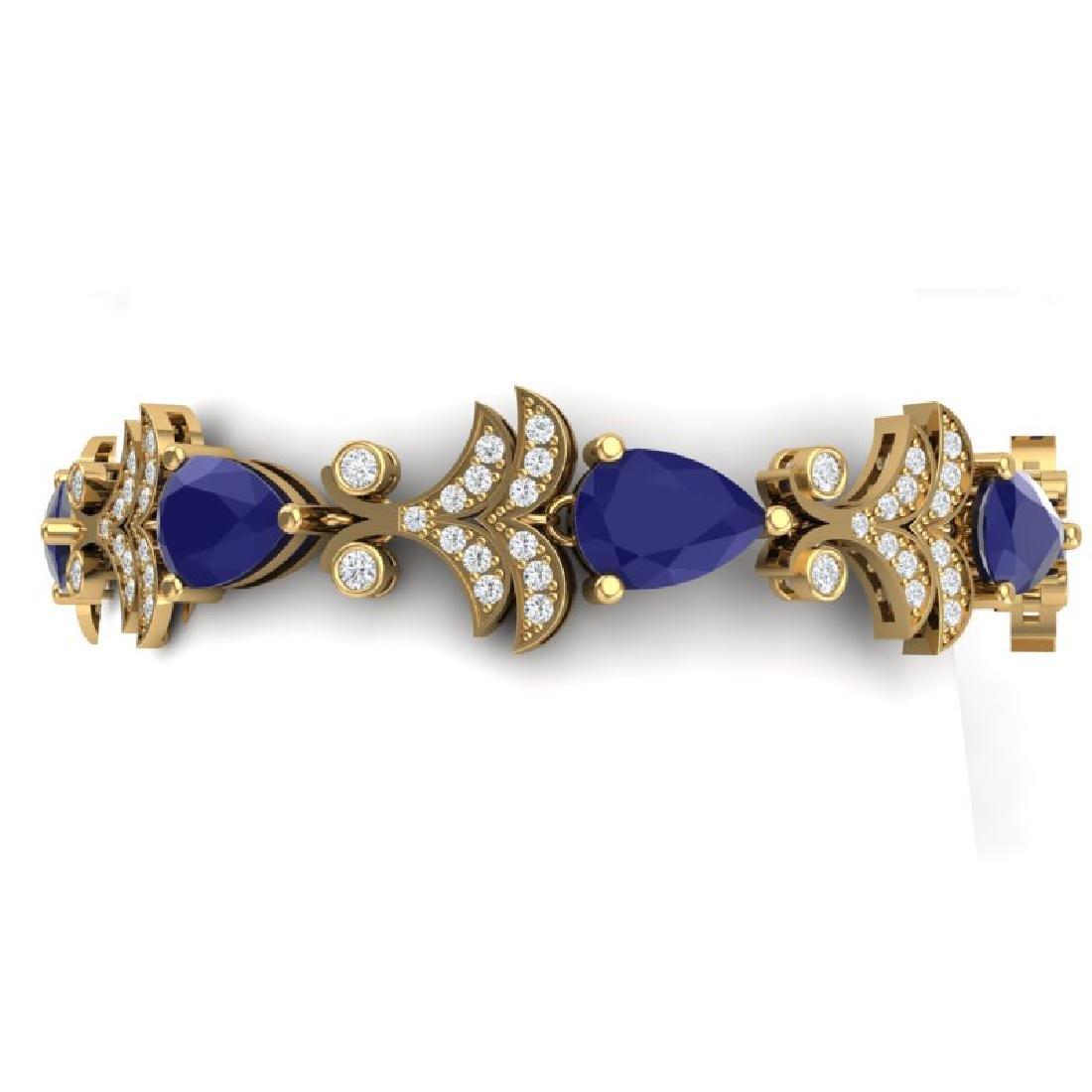 24.8 CTW Royalty Sapphire & VS Diamond Bracelet 18K