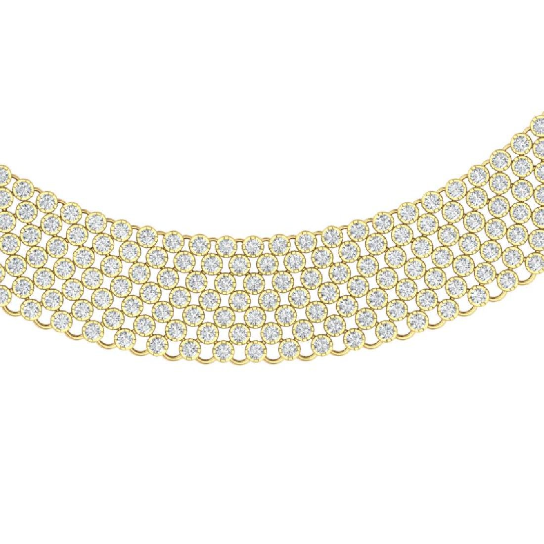 35 CTW Certified VS/SI Diamond Necklace 18K Yellow Gold