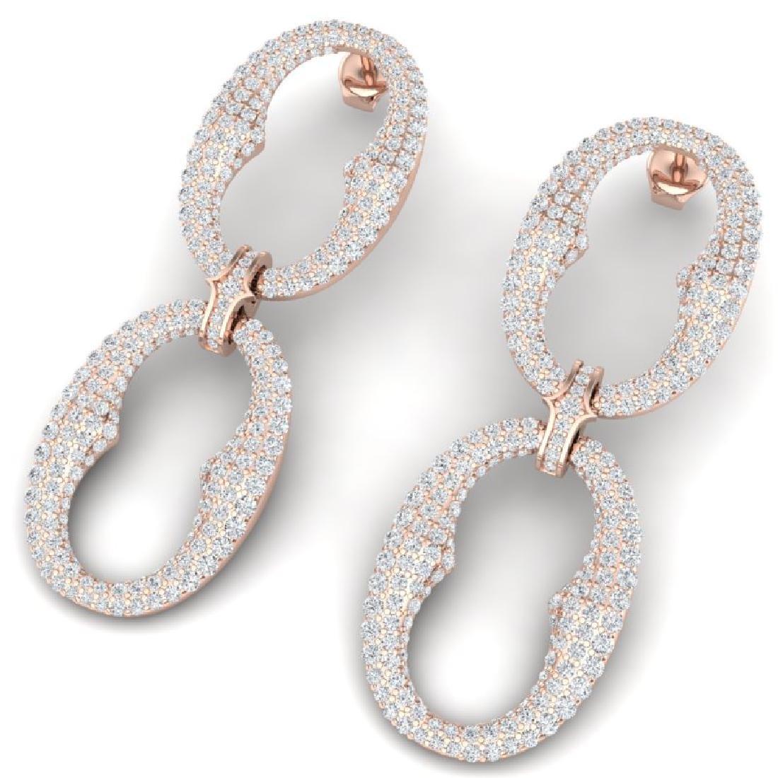 7 CTW Certified VS/SI Diamond Earrings 18K Rose Gold