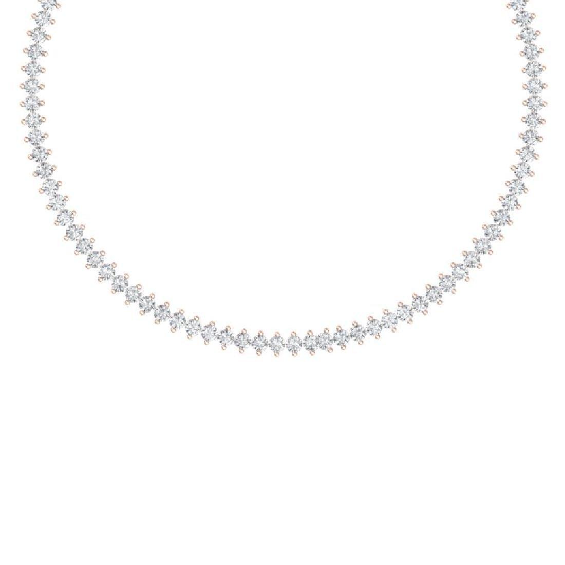 20 CTW Certified VS/SI Diamond Necklace 18K Rose Gold