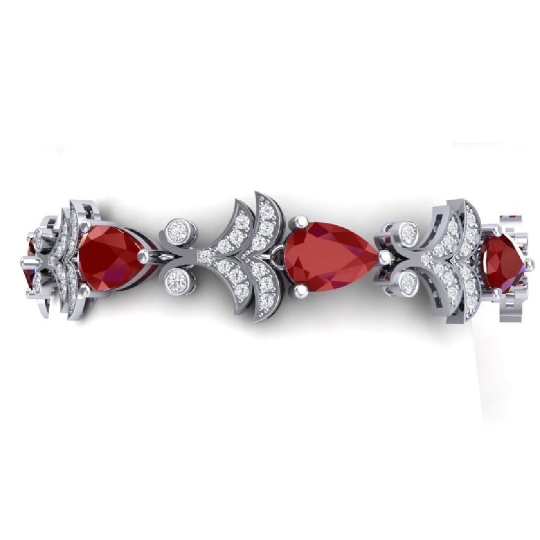 24.8 CTW Royalty Designer Ruby & VS Diamond Bracelet