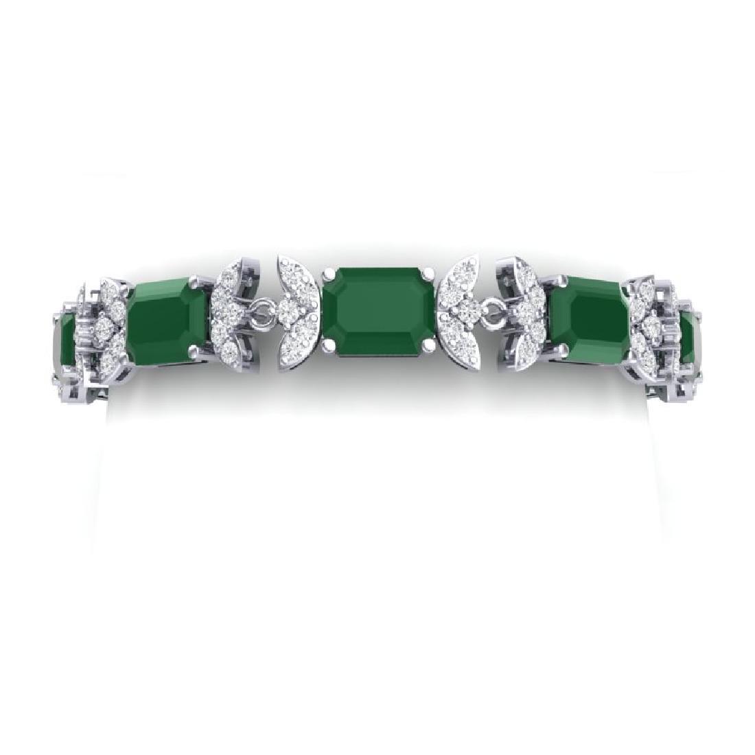 38.13 CTW Royalty Emerald & VS Diamond Bracelet 18K