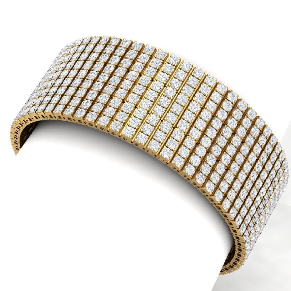 40 CTW Certified VS/SI Diamond Bracelet 18K Yellow Gold