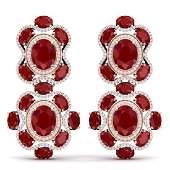 335 CTW Royalty Designer Ruby  VS Diamond Earrings