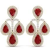 2923 CTW Royalty Designer Ruby  VS Diamond Earrings