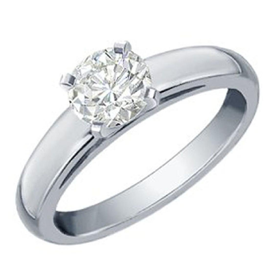 1.0 CTW Certified VS/SI Diamond Solitaire Ring 18K