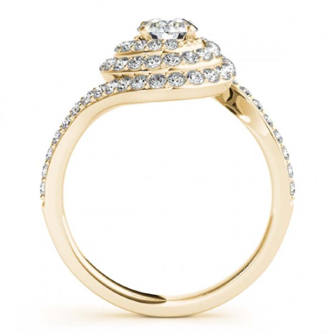 1.86 CTW Certified VS/SI Diamond Solitaire Halo Ring - 2
