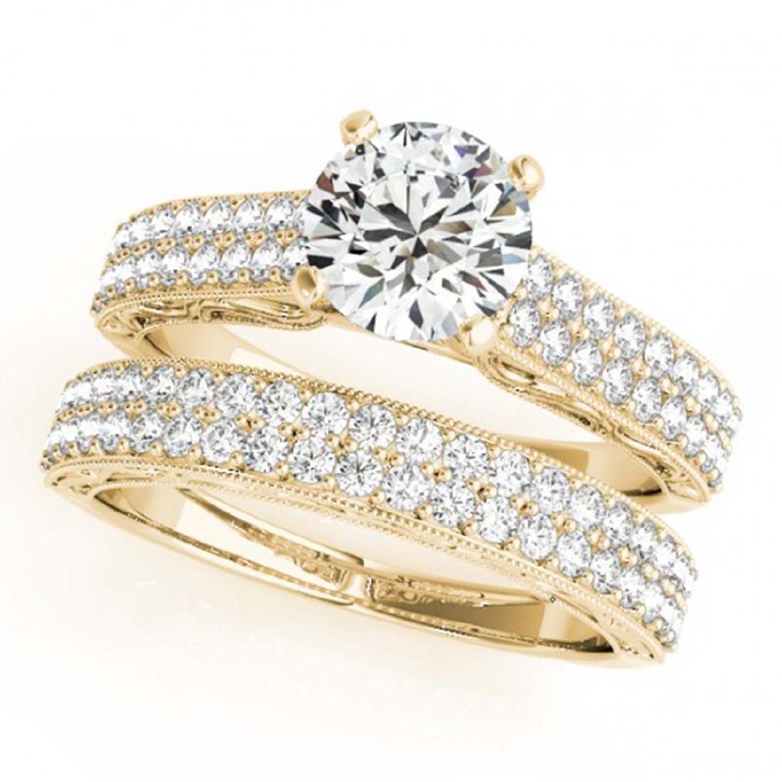 2.5 CTW Certified VS/SI Diamond Solitaire 2Pc Wedding