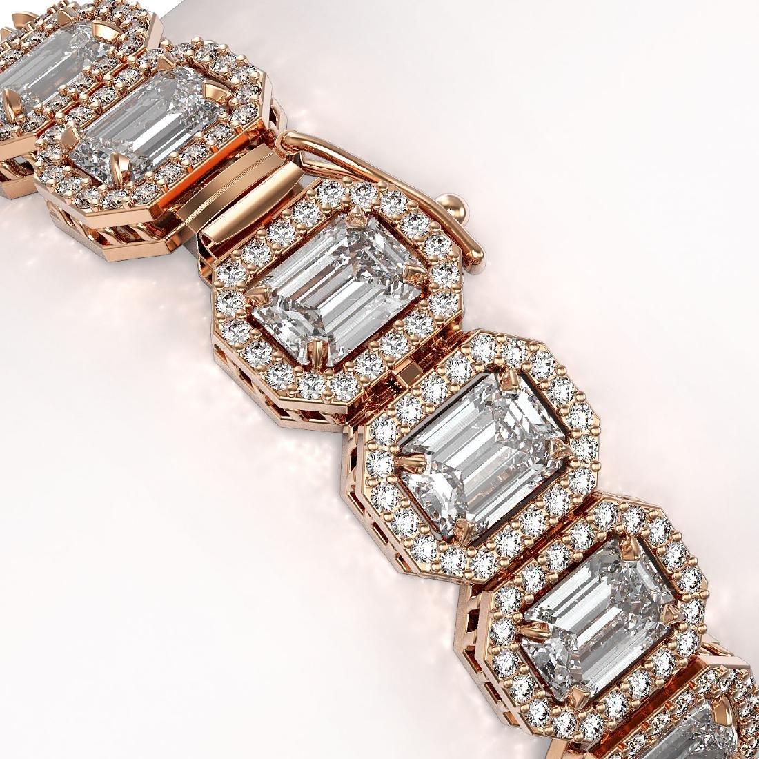 20.25 CTW Emerald Cut Diamond Designer Bracelet 18K - 3