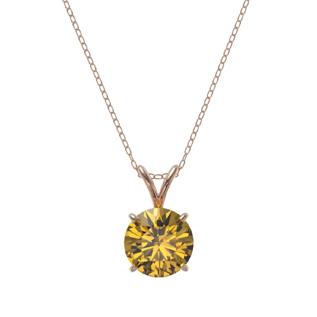 1.50 CTW Certified Intense Yellow SI Diamond Solitaire - 3