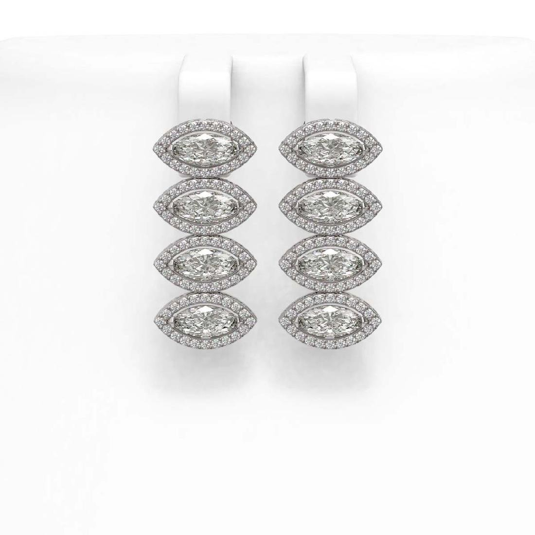 5.92 CTW Marquise Diamond Designer Earrings 18K White