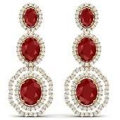 1701 CTW Royalty Designer Ruby VS Diamond Earrings