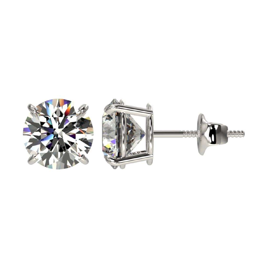 2 CTW Certified H-SI/I Quality Diamond Solitaire Stud - 2