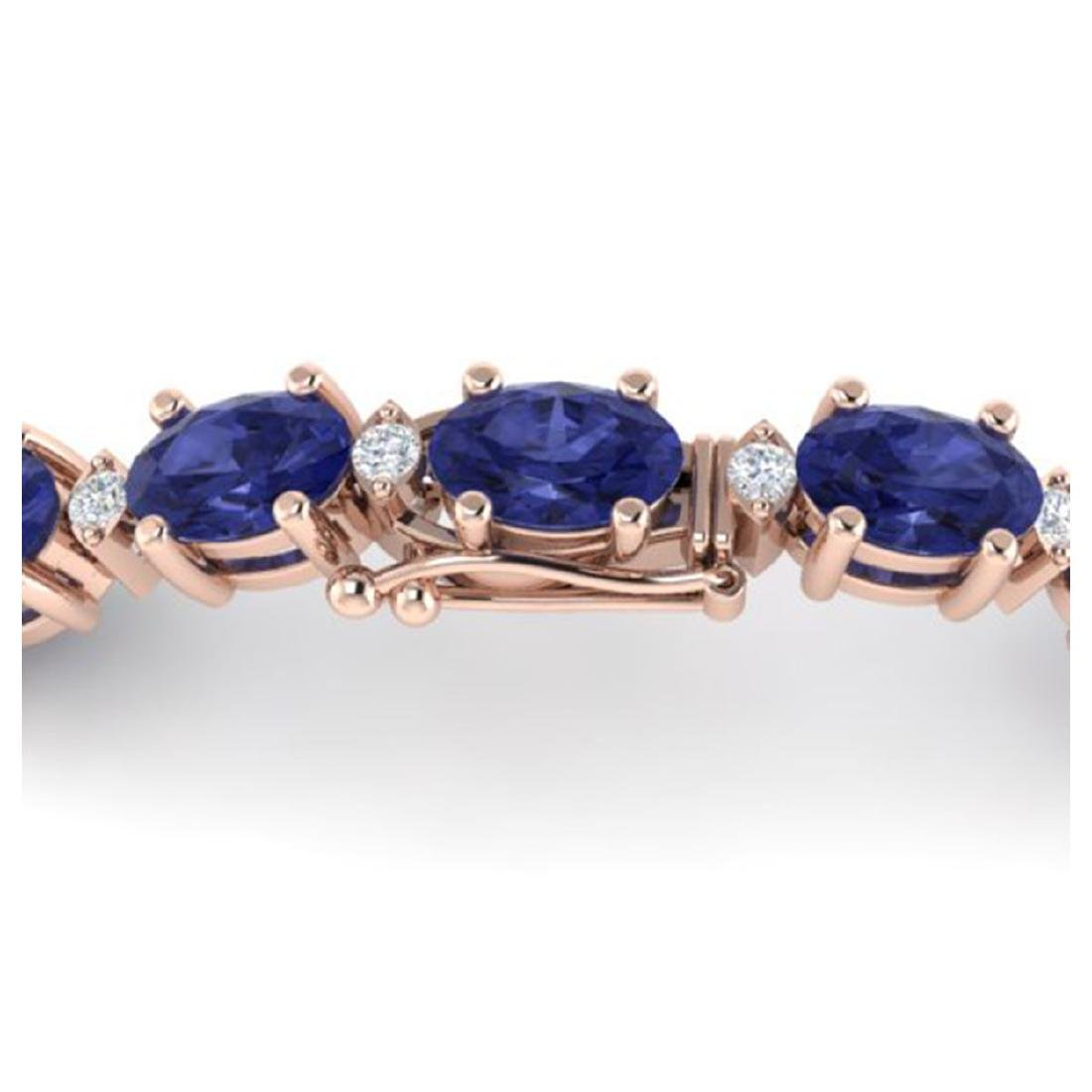 26.3 CTW Tanzanite & VS/SI Certified Diamond Eternity - 3