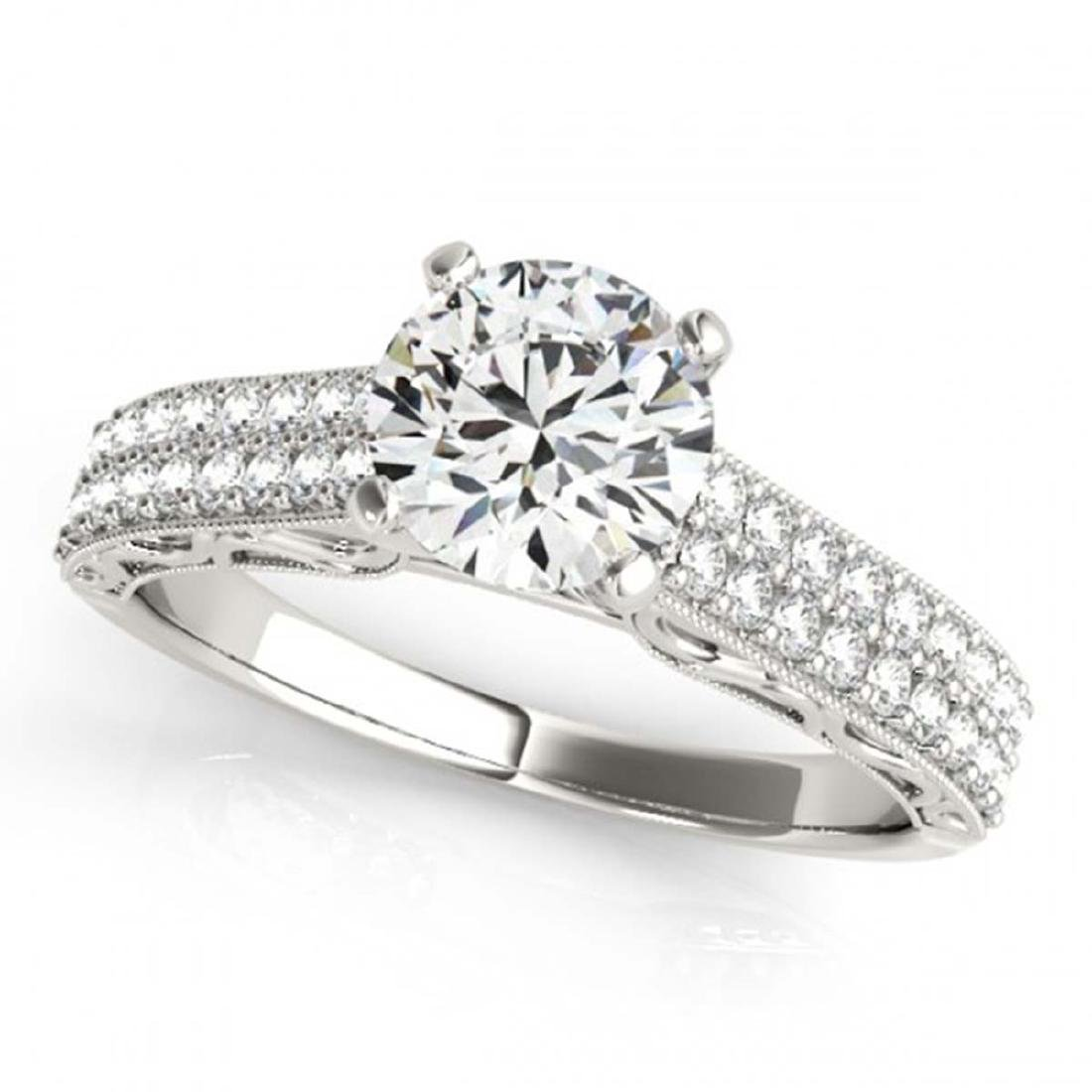 1.91 CTW Certified VS/SI Diamond Solitaire Antique Ring
