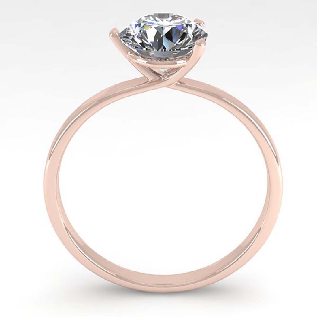 1.01 CTW Certified VS/SI Diamond Engagement Ring 14K - 2