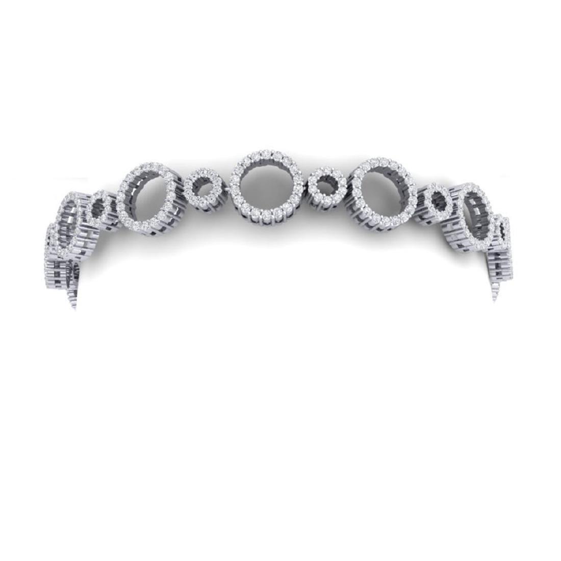 4 CTW Certified SI/I Diamond Halo Bracelet 18K White - 2