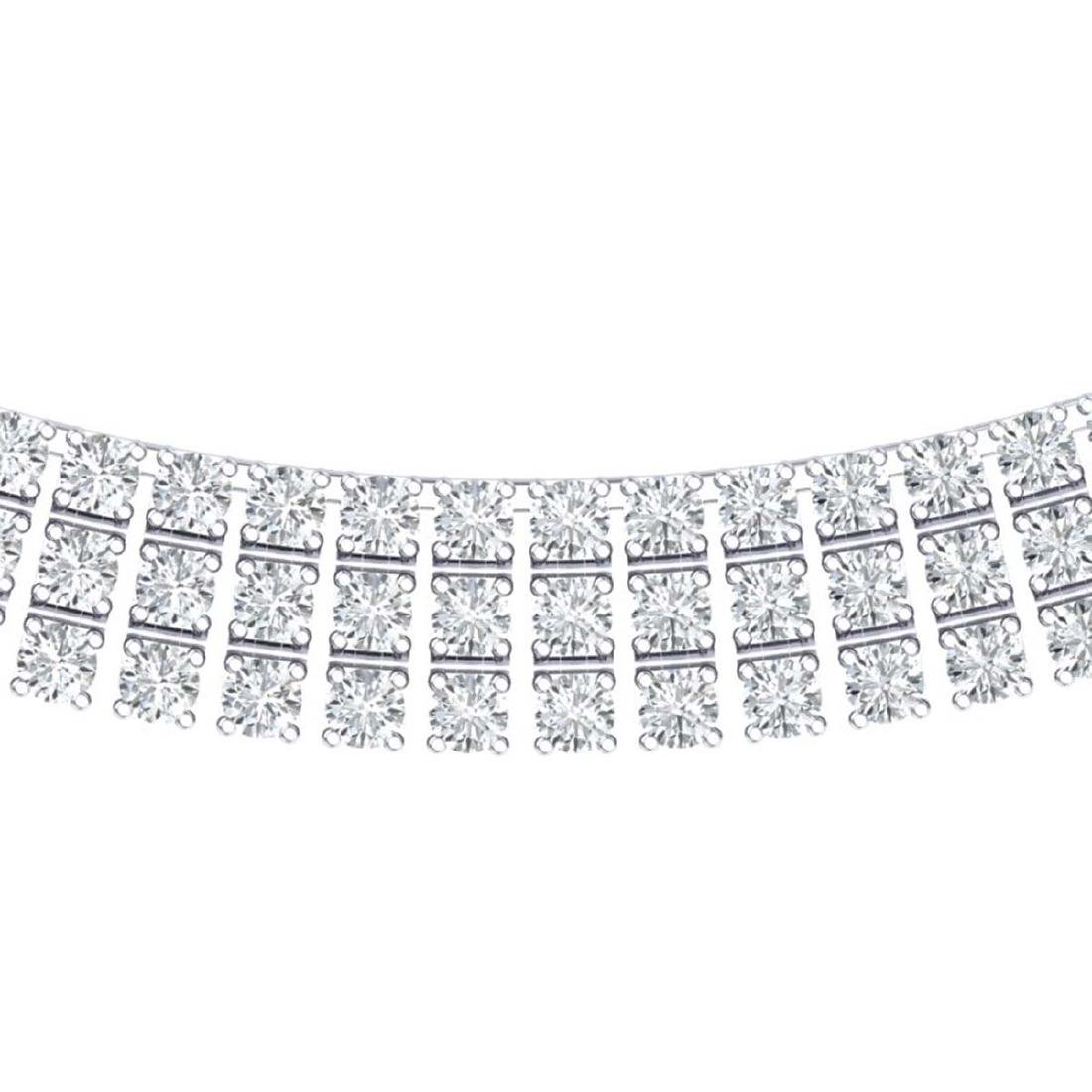 30 CTW Certified SI/I Diamond Necklace 18K White Gold -