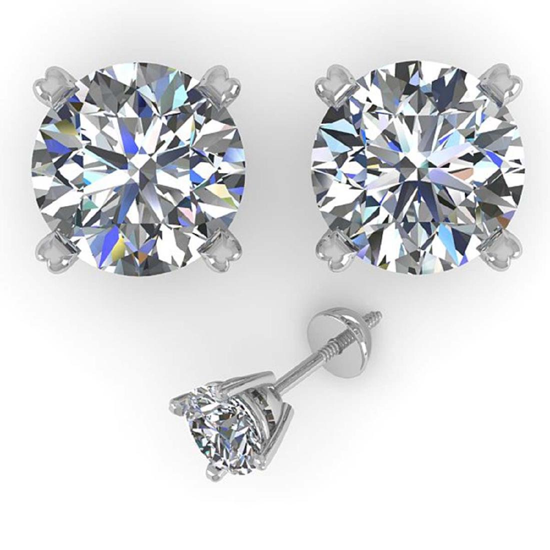 2.50 CTW Certified VS/SI Diamond Stud Earrings 14K - 2