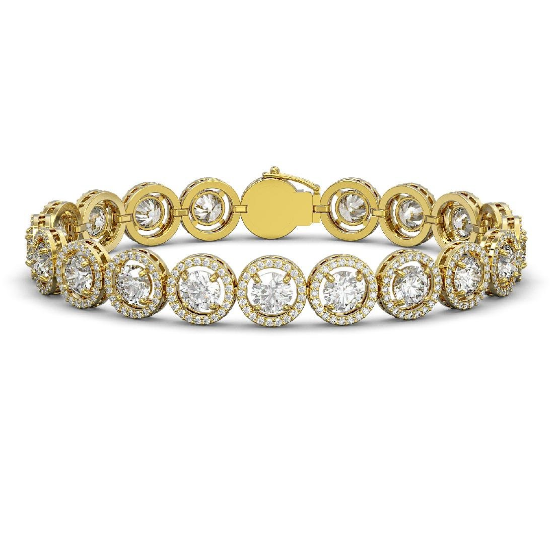 15.36 CTW Diamond Designer Bracelet 18K Yellow Gold -