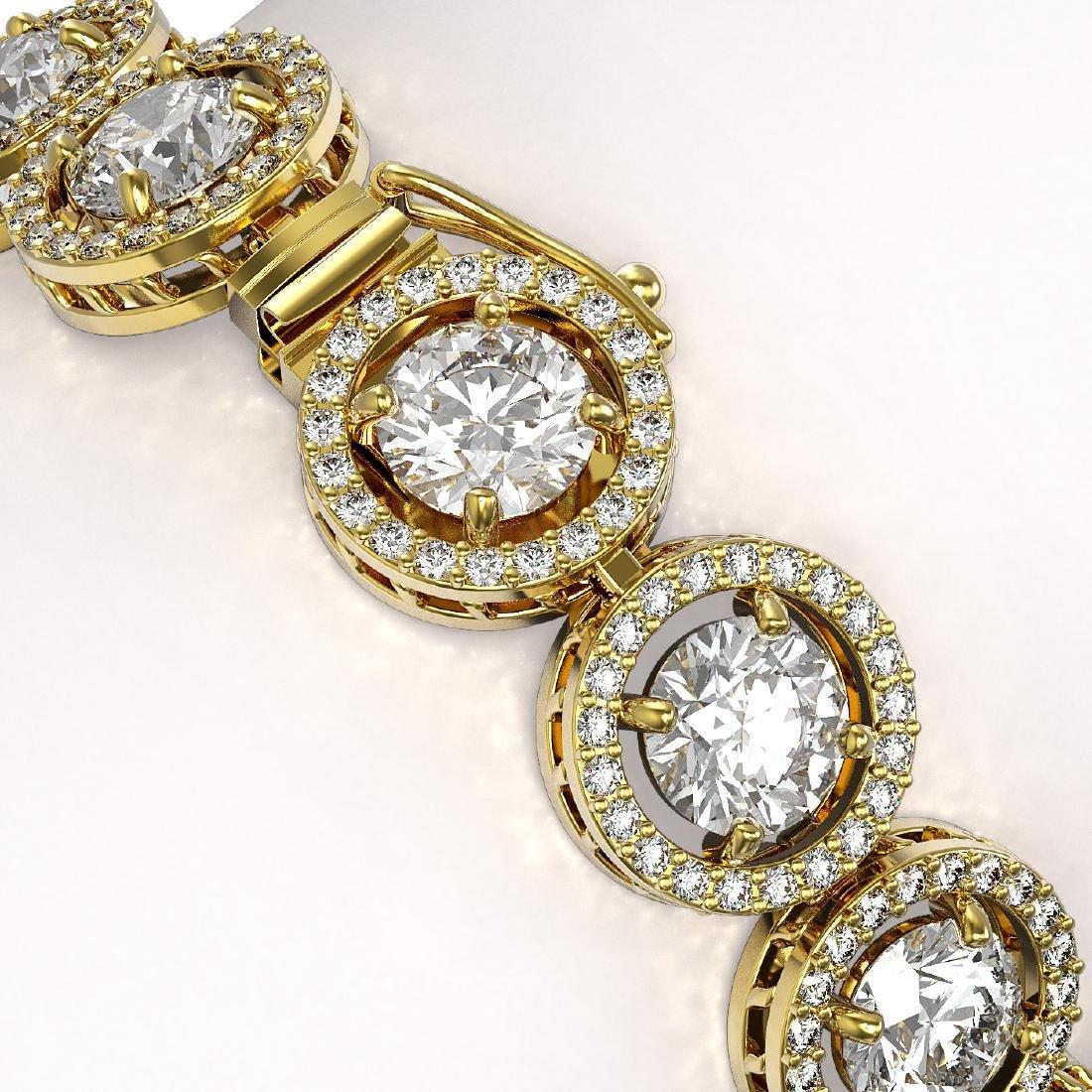 15.36 CTW Diamond Designer Bracelet 18K Yellow Gold - - 3