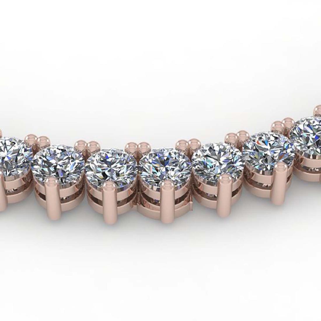 20 CTW Solitaire VS/SI Diamond Necklace 18K Rose Gold -
