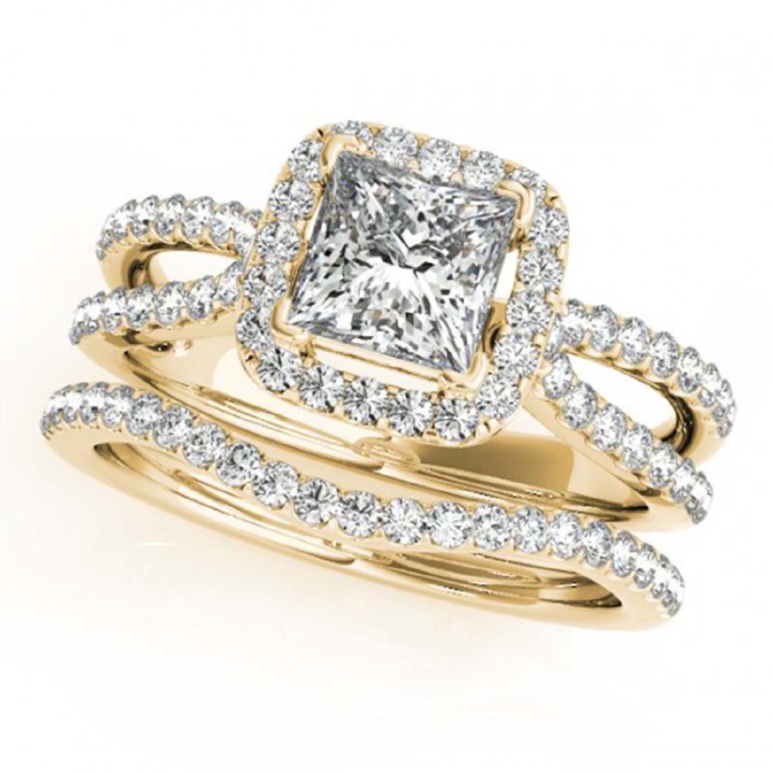 1.71 CTW Certified VS/SI Princess Diamond 2Pc Set