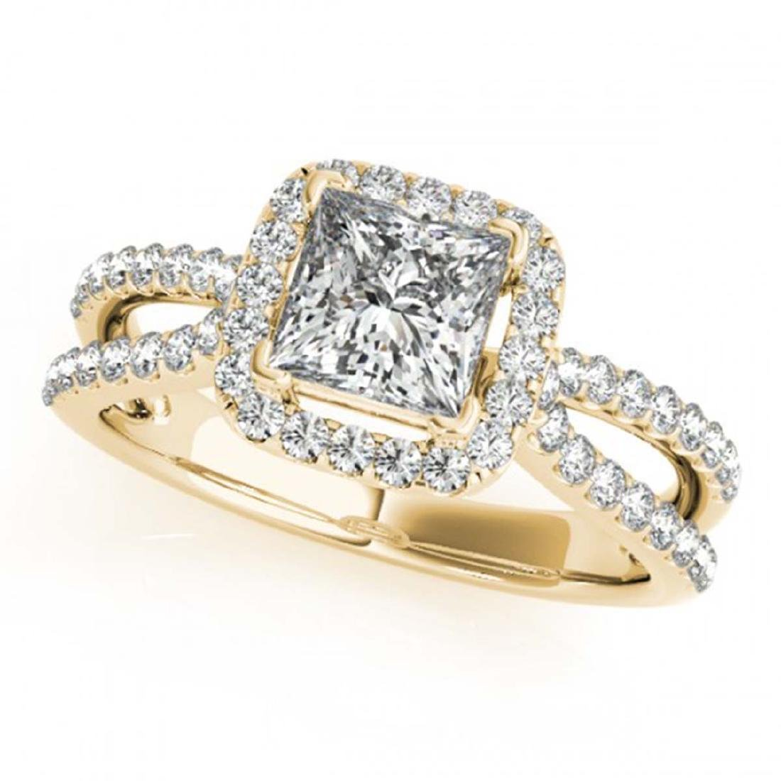 1.71 CTW Certified VS/SI Princess Diamond 2Pc Set - 2