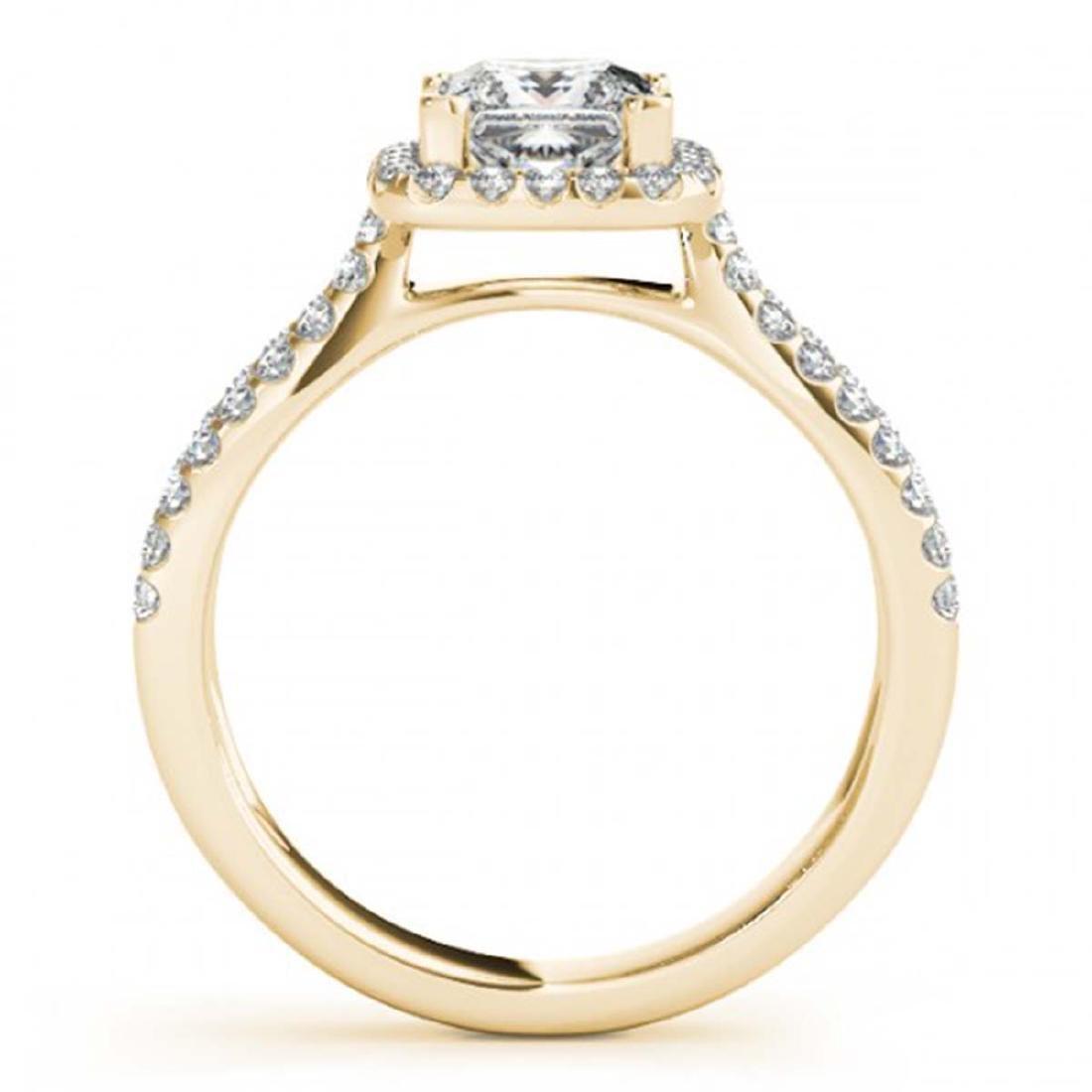 1.71 CTW Certified VS/SI Princess Diamond 2Pc Set - 3