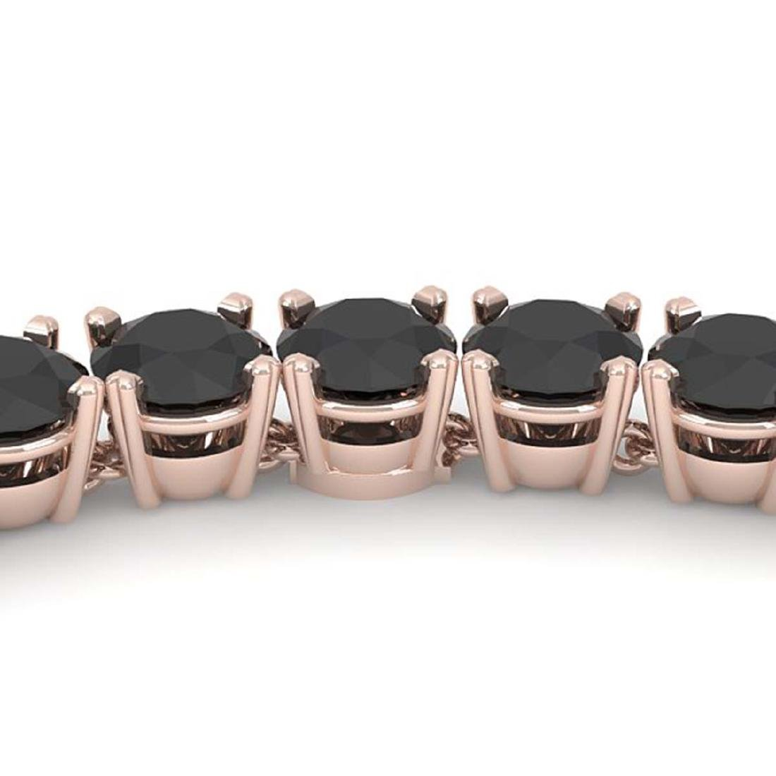 40 CTW Certified Black VS Diamond Necklace 14K Rose