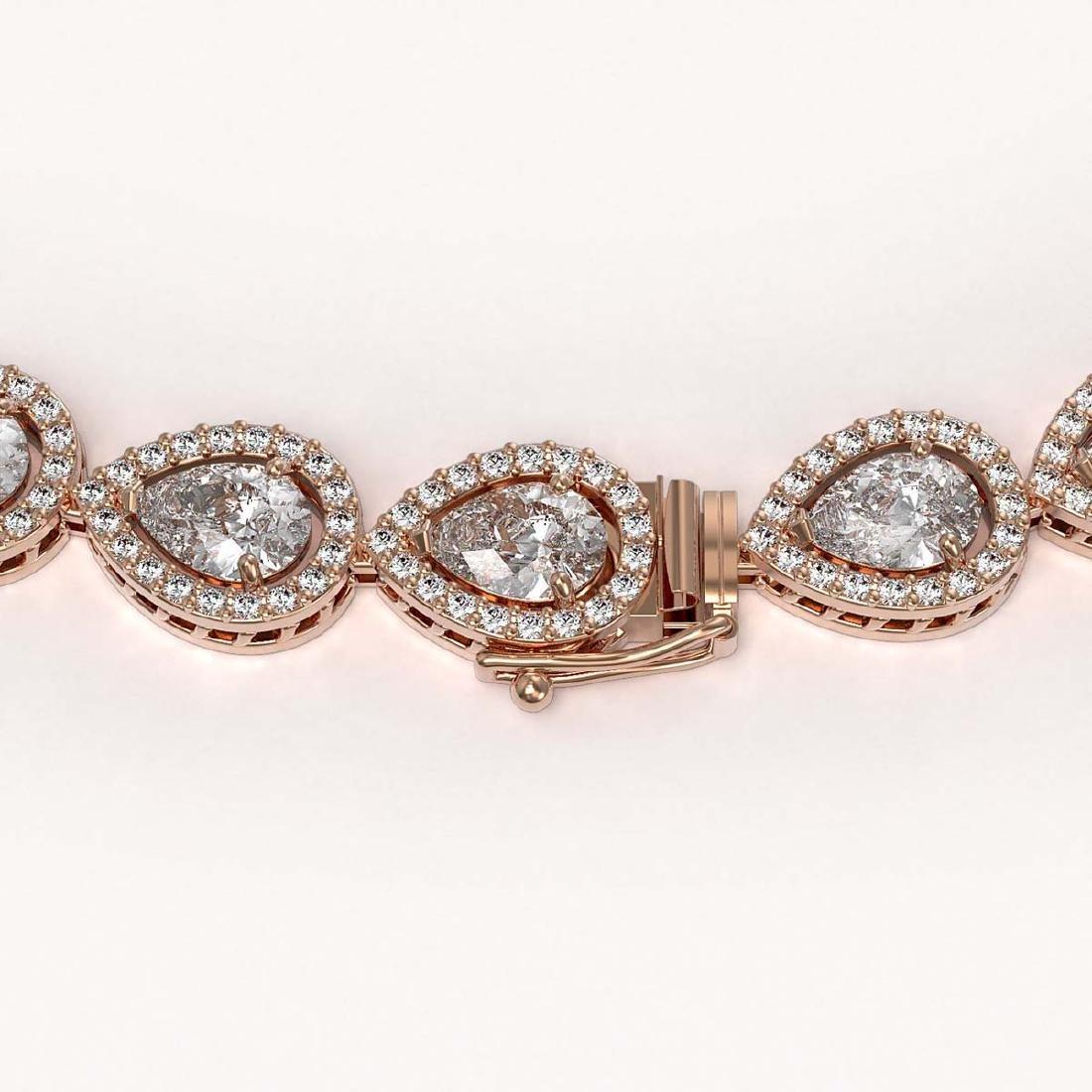 33.08 CTW Pear Diamond Designer Necklace 18K Rose Gold - 3