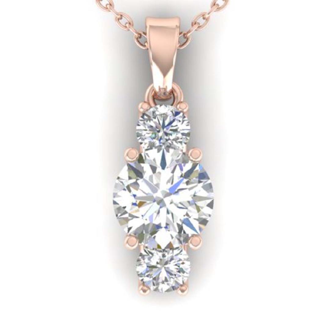 1.5 CTW Certified VS/SI Diamond Art Deco Stud Necklace