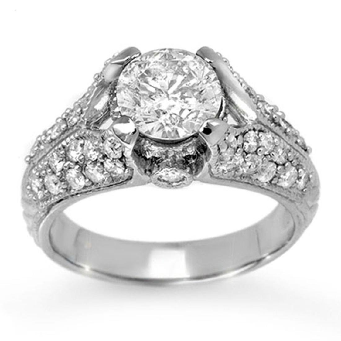 2.20 CTW Certified VS/SI Diamond Ring 14K White Gold -