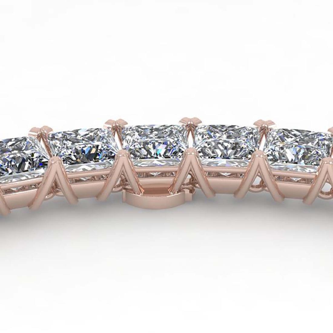 36 ctw Princess SI Diamond Necklace 14K White Gold -