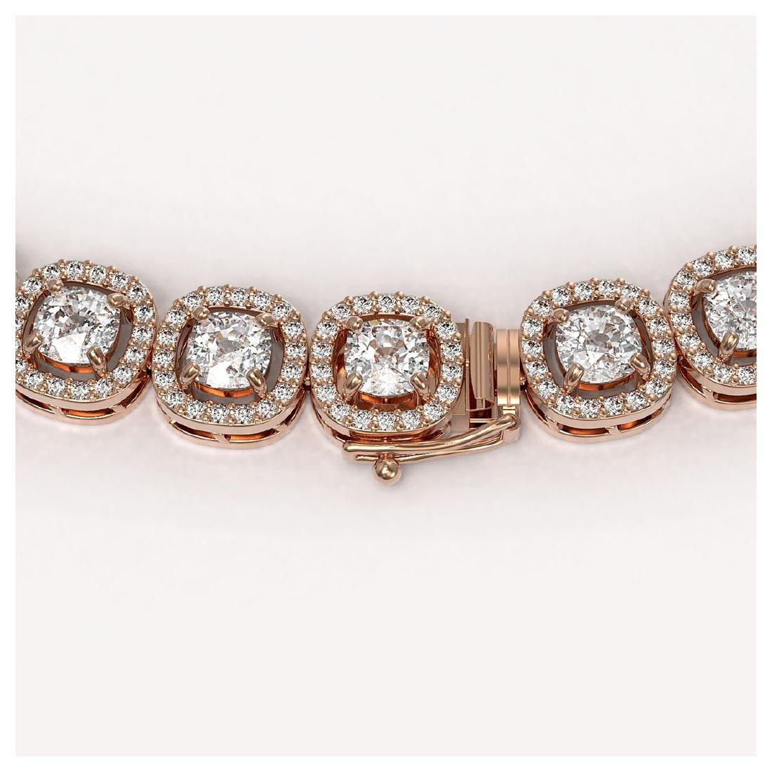 24.4 ctw Cushion Diamond Designer Necklace 18K Rose - 3