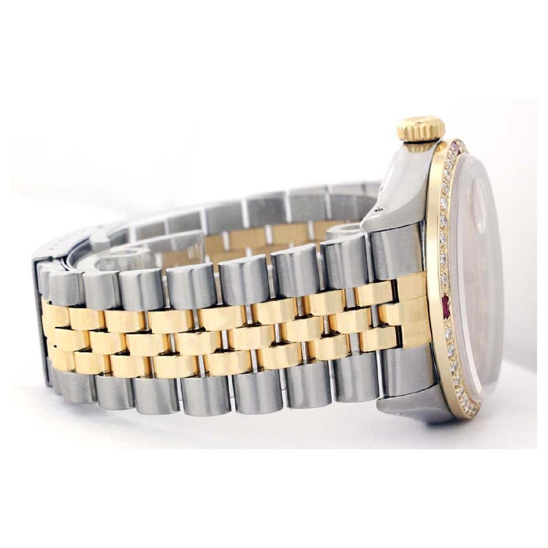 Rolex Men's Two Tone 14K Gold/SS, QuickSet, Diam Pave - 4