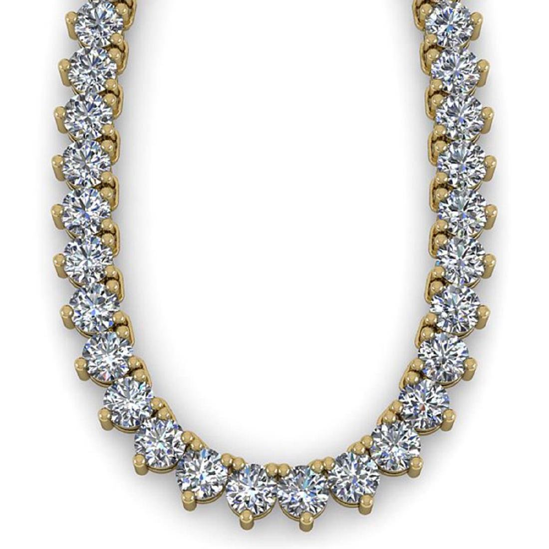 65 ctw Solitaire SI Diamond Necklace 14K Yellow Gold - - 2