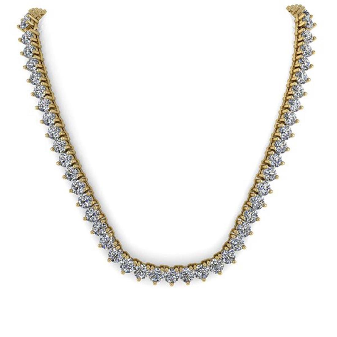 65 ctw Solitaire SI Diamond Necklace 14K Yellow Gold - - 3
