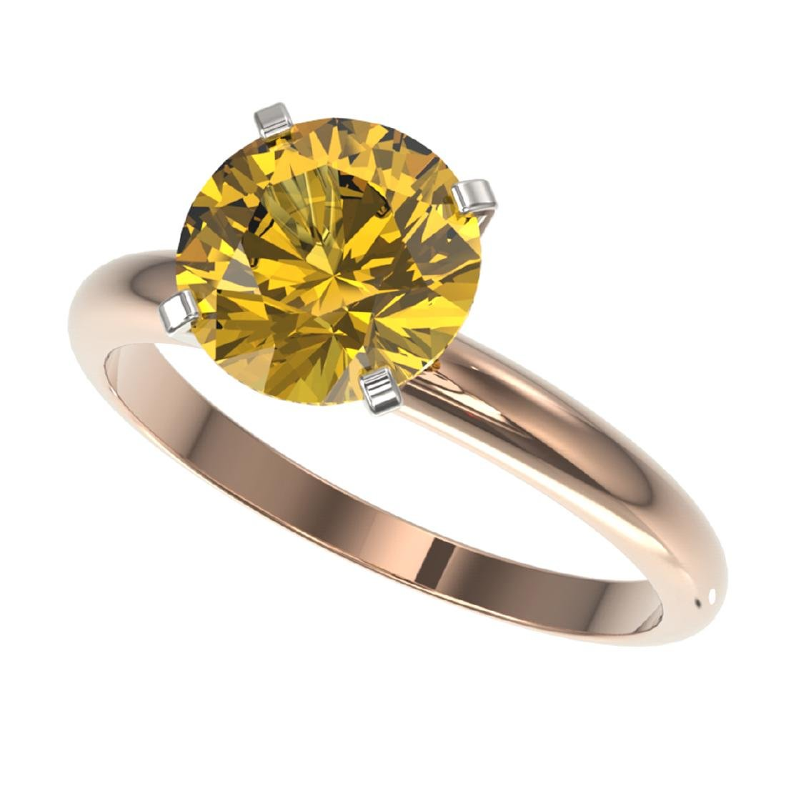 2.50 ctw Intense Yellow SI Diamond Solitaire Ring 10K