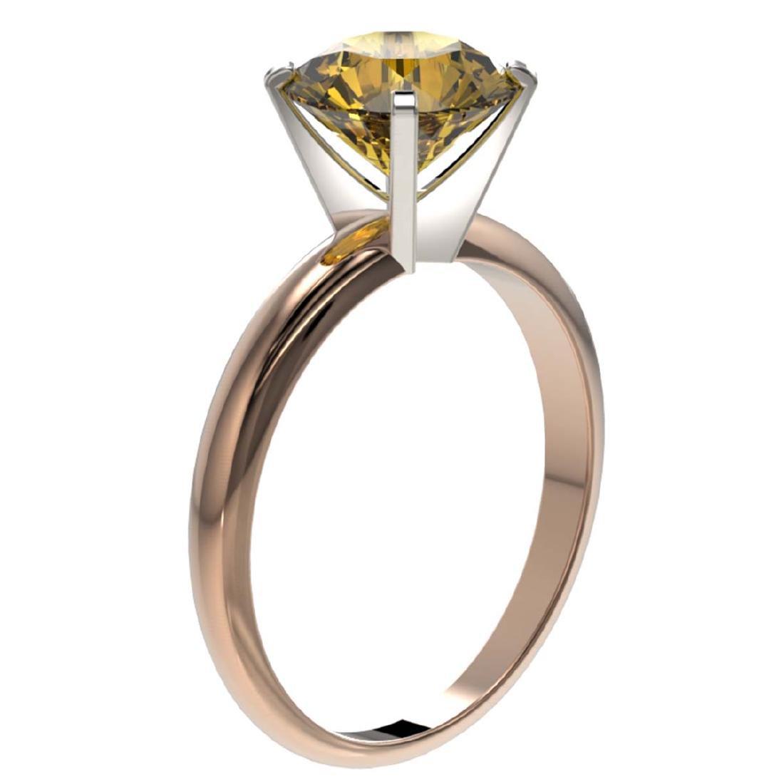 2.50 ctw Intense Yellow SI Diamond Solitaire Ring 10K - 3
