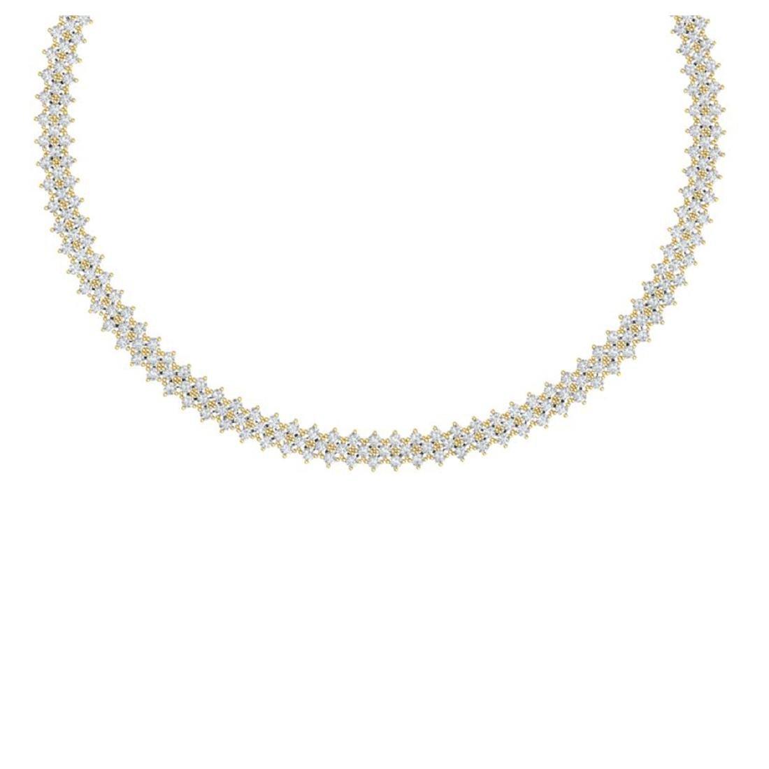 20 ctw SI/I Diamond Necklace 18K Yellow Gold -