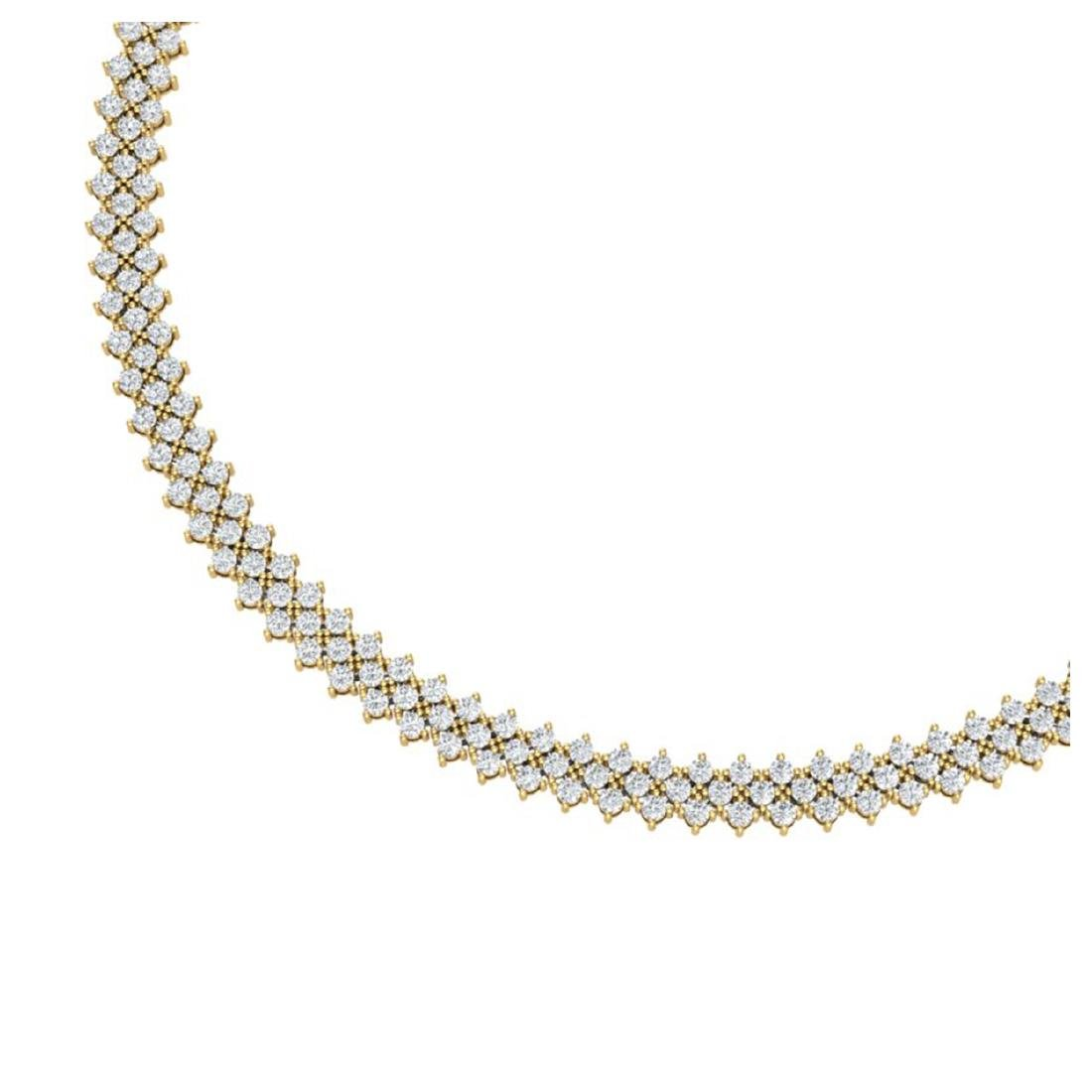 20 ctw SI/I Diamond Necklace 18K Yellow Gold - - 2