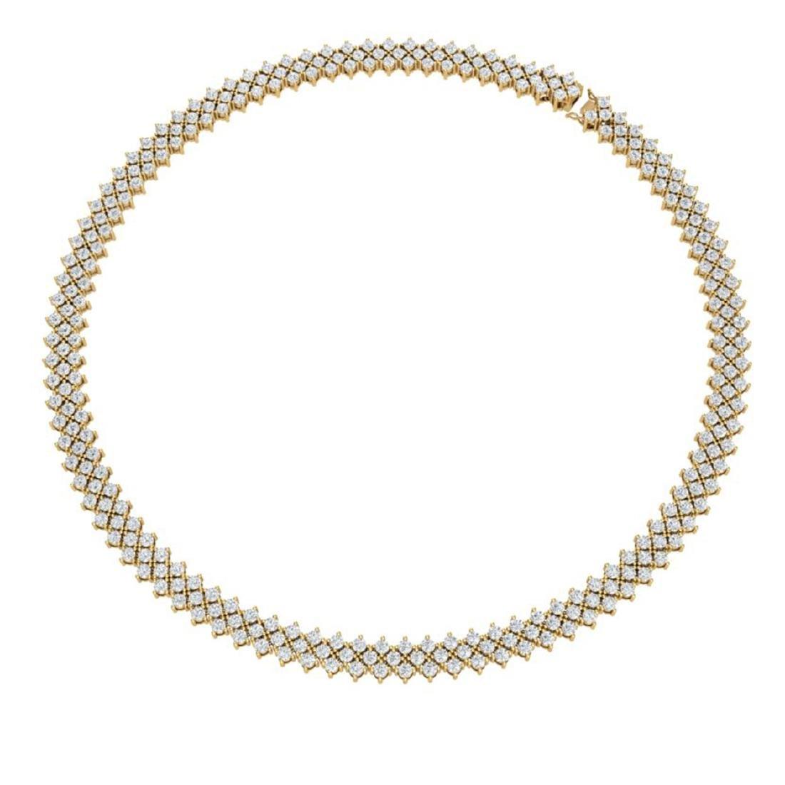 20 ctw SI/I Diamond Necklace 18K Yellow Gold - - 3