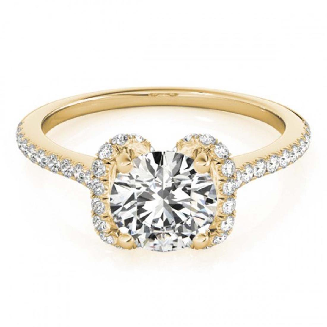1.33 ctw VS/SI Diamond Halo Ring 18K Yellow Gold -