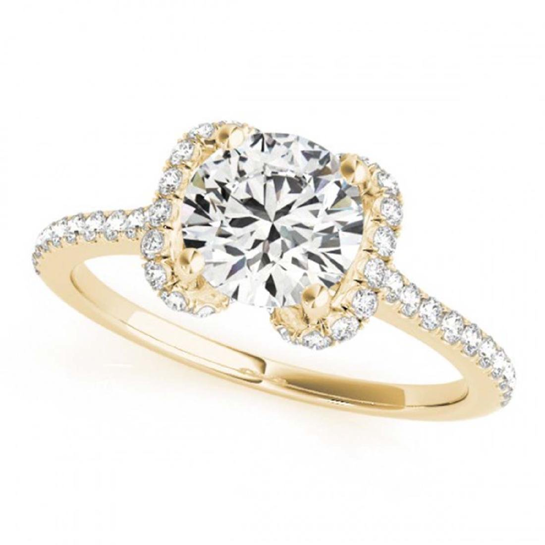 1.33 ctw VS/SI Diamond Halo Ring 18K Yellow Gold - - 2
